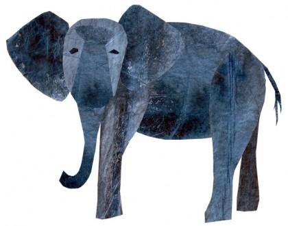 Paper elephant by Brenda Long