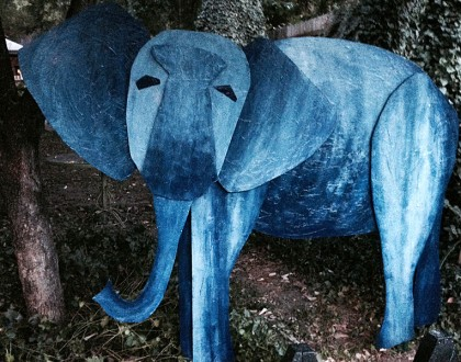 Mabells Zoo Elephant - Wood Sculpture